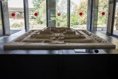Scale model of Cancho Roano archaeological site, Spain. Zalamea de la Serena, Spain - April 28th, 2018: Scale model of Cancho Roano archaeological site Royalty Free Stock Photo