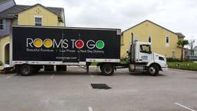 Zalen om te gaan Vrachtwagen stock videobeelden