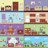 Zalen van huis Stock Foto's