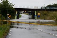 Zalewać ulicy w Szwecja Zdjęcie Royalty Free