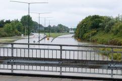 Zalewać ulicy w Szwecja Fotografia Stock
