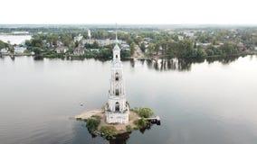 Zalewająca dzwonnica St Nicholas katedra w Kalyazin zbiory wideo
