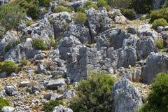 Zalewający antyczny Lycian miasto jako rezultat trzęsienia ziemi miasta zdjęcia royalty free