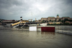 Zalewający miasto Hungary zdjęcia stock