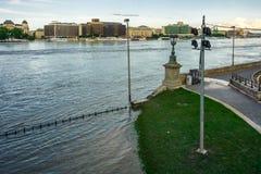 Zalewający miasto Hungary zdjęcia royalty free