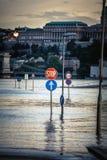 Zalewający miasto Hungary obrazy stock