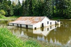 Zalewający rolny budynek obraz royalty free