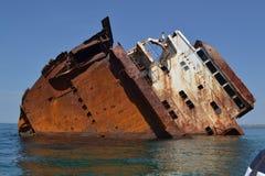 Zalewający w dennym statku zdjęcie royalty free