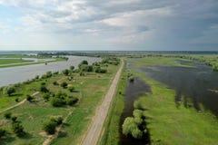 Zalewający w Volga delcie, Rosja zdjęcia stock