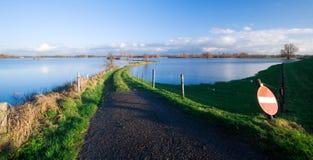 zalewająca river road Zdjęcie Royalty Free
