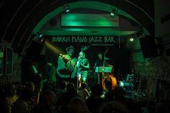 Zalewska-Trio führt Live am Sommer Jazz Festival in Krakau durch, stockfotos