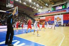 Zalgiris and CSKA Moscow teams play basketball stock photo