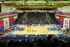 Zalgiris and CSKA Moscow  teams prepare for match Stock Image