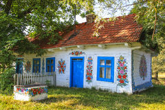 Zalipie Polen - färgrik by - frilufts- museum Royaltyfri Fotografi