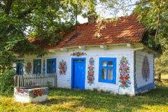 Zalipie, Polonia - villaggio variopinto - museo all'aperto Fotografia Stock Libera da Diritti