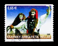 Zalistos - η Νάουσα, ελληνικά χορεύει serie, circa το 2002 Στοκ Φωτογραφίες