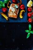 Zalm en ingrediënten stock foto's