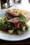 Zalm en Salade Royalty-vrije Stock Fotografie