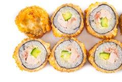 Zalm Gebraden Sushi Stock Foto