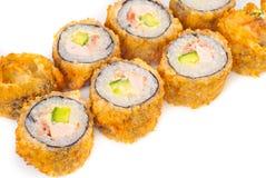 Zalm Gebraden Sushi Stock Afbeelding