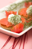 Zalm Hor d'oeuvre Stock Afbeelding
