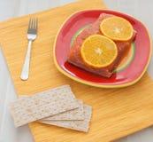 Zalm met sinaasappel Stock Foto