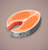 Zalmlapje vlees van rode vissen voor sushivoedsel Royalty-vrije Stock Afbeelding