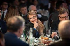 Zaludnia delegata Ukraina Yulia Timoshenko zdjęcie stock
