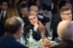 Zaludnia delegata Ukraina Yulia Timoshenko obraz stock