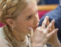Zaludnia delegata Ukraina Yulia Timoshenko Zdjęcia Royalty Free