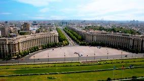 Zaludnia pałac - Romania obraz royalty free
