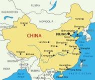 Zaludnia republiki Chiny - mapa Zdjęcie Royalty Free