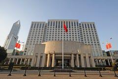 Zaludnia rzędu Szanghaj zarząd miasta obrazy stock