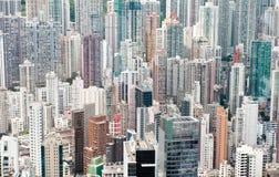 zaludniający Hong gęsto kong zdjęcia royalty free