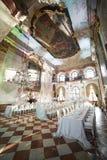 Zalzburg Austria, Grudzień, - 19, 2015: HOTEL SCHLOSS LEOPOLDSKRON obraz royalty free
