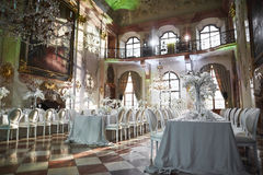 Zalzburg Austria, Grudzień, - 19, 2015: HOTEL SCHLOSS LEOPOLDSKRON obrazy royalty free