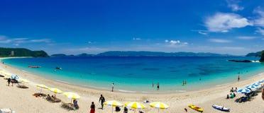 Zamami surpreendente da ilha de okinawa da vista panorâmico Fotos de Stock