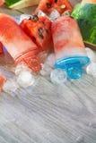 Zamarznięci arbuzów popsicles zdjęcia stock