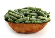 Zamarznięci asparagusów strąki w talerzu Zdjęcie Stock