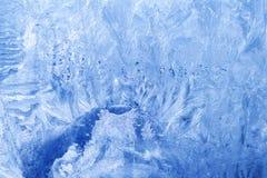 zamarznięci szkła lodu płatek śniegu Obraz Stock