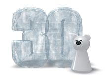 Zamarznięci trzydzieści i niedźwiedź polarny Zdjęcie Royalty Free
