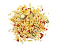 Zamarznięci warzywa odizolowywający na białym tle Obraz Stock