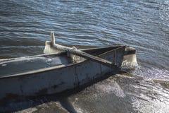 Zamarznięta łódź obraz royalty free