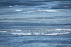 Zamarznięta jeziorna tekstura obraz stock