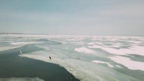 Zamarznięta jezioro powierzchnia zbiory