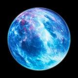 Zamarznięta planeta w przestrzeni odizolowywającej na czerni ilustracji