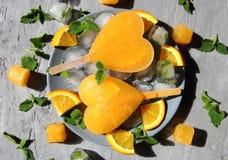 Zamarznięta pomarańczowa lemoniada Zdjęcia Stock