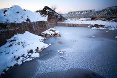 zamarznięta rzeka Obraz Royalty Free