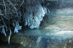 Zamarznięta rzeka zdjęcia stock