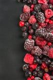 Zamarznięte jagody, rabatowy karmowy tło obraz royalty free